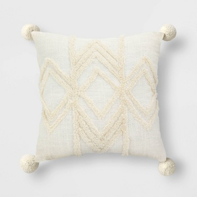 High Low Throw Pillow Cream - Opalhouse™