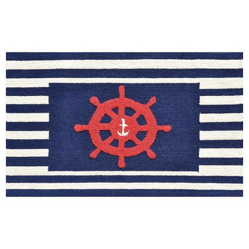 Navy Anchor Area Rug (3'x5') - The Rug Market - image 1 of 2