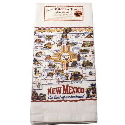 "Tabletop 24.0"" New Mexico Flour Sack Towel 100% Cotton Retro Design 50S Red And White Kitchen Company  -  Kitchen Towel"