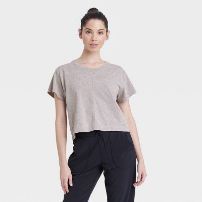 Women's Seamless Boxy Cropped Short Sleeve T-Shirt - All in Motion™
