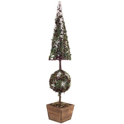 Melrose 3.25' Unlit Artificial Christmas Tree Snow Covered Potted Topiary