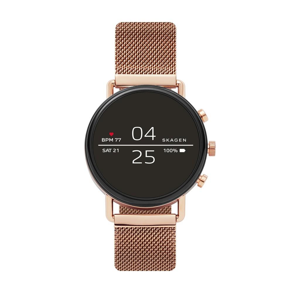 Skagen Smartwatch - Falster 2 40mm Rose-Tone Magnetic Steel-Mesh, Rose