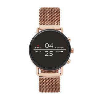 Skagen Smartwatch - Falster 2 40mm Rose-Tone Magnetic Steel-Mesh