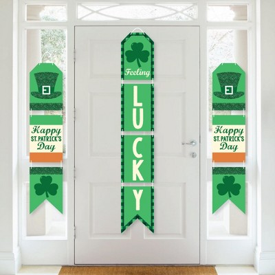 Big Dot of Happiness St. Patrick's Day - Hanging Vertical Paper Door Banners - Saint Patty's Day Party Wall Decoration Kit - Indoor Door Decor