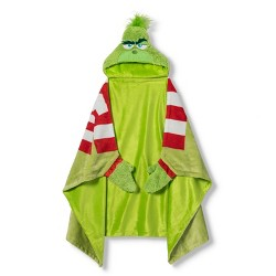 "Dr. Seuss The Grinch 30""x50"" Toddler Hooded Blanket"