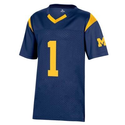 NCAA Michigan Wolverines Boys' Short Sleeve Jersey
