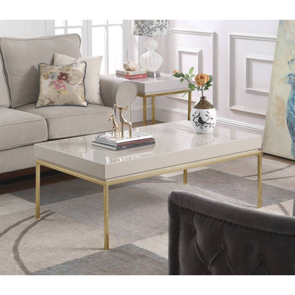 Alcestis Side Table Beige - Chic Home Design was $739.99 now $443.99 (40.0% off)