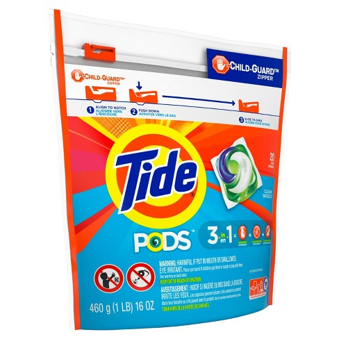 Tide PODS Ocean Mist Laundry Detergent Pacs - 20ct - image 1 of 3