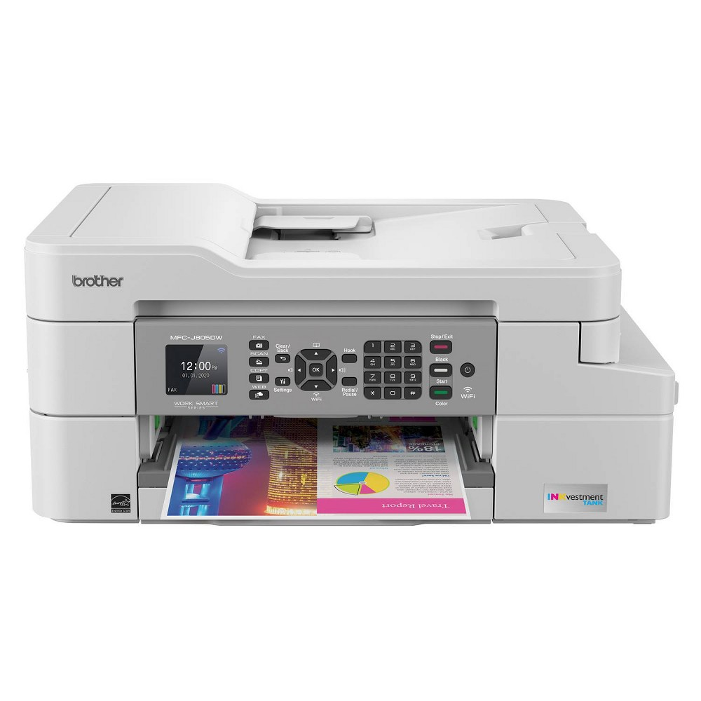 Compatible Brother INKvestment Tank Wireless All-In-One Inkjet Printer (MFC-J805DW)