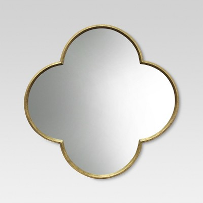 Quatrefoil Decorative Wall Mirror Gold Finish - Threshold™