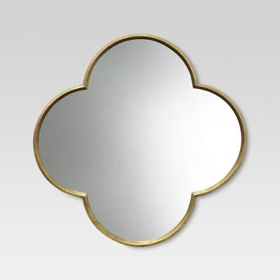 Quatrefoil Decorative Wall Mirror Gold Finish - Threshold™