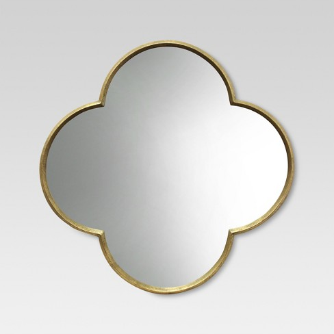 Quatrefoil Decorative Wall Mirror Gold Finish - Threshold™ - image 1 of 4