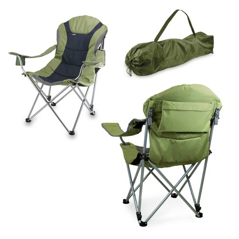 Admirable Picnic Time Reclining Camp Chair With Carrying Case Green Creativecarmelina Interior Chair Design Creativecarmelinacom