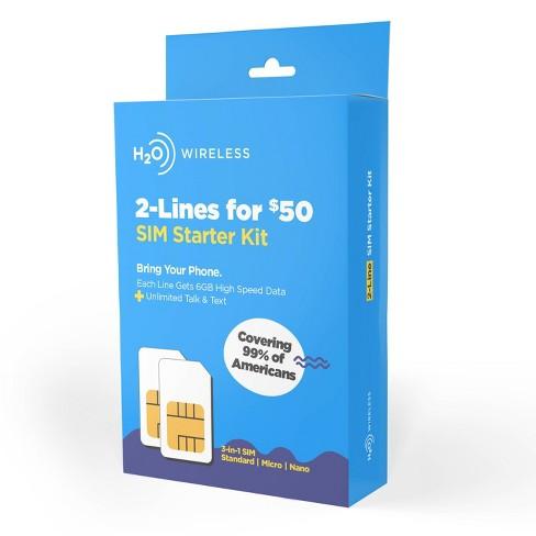 H2O 2-Line $50/Month SIM Starter Kit - image 1 of 2