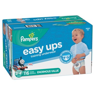Pampers Easy Ups Boys' Training Pants Enormous Pack - 3T-4T (116ct)