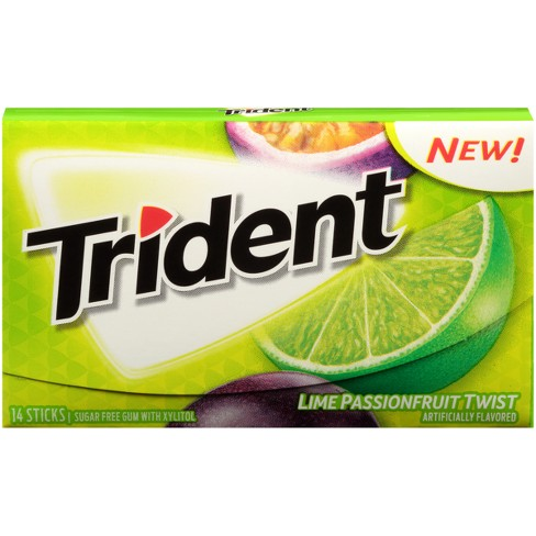 Trident Lime Passionfruit Twist 14ct Target