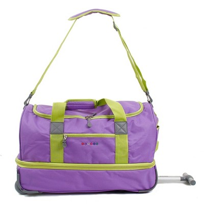 "J World Stadium 21"" Expandable Rolling Duffel Bag - Orchid"
