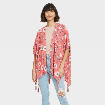 Women's Floral Print Short Sleeve Jacket - Knox Rose™