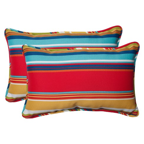 Pillow Perfect Westport Outdoor 2 Piece Lumbar Throw Pillow Set