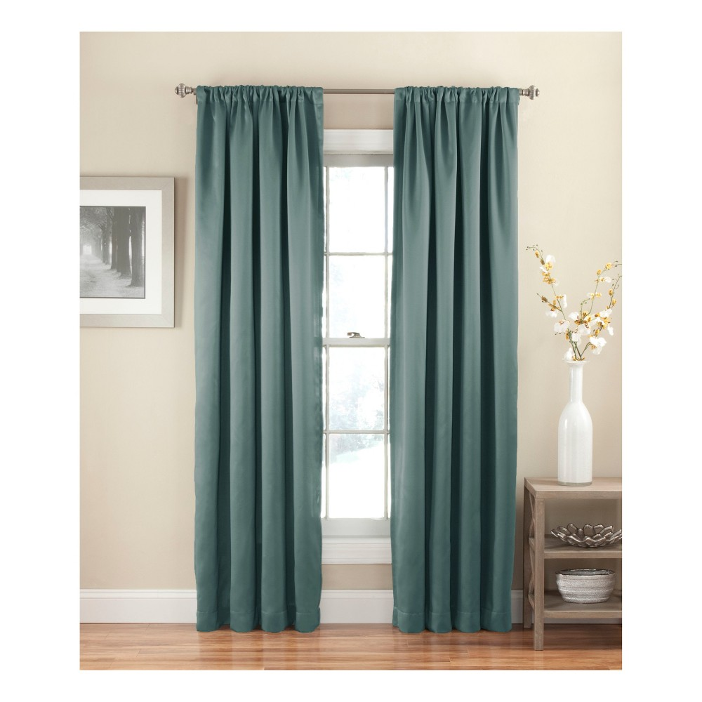 54 34 X54 34 Solid Thermapanel Room Darkening Curtain Panel River Blue Eclipse