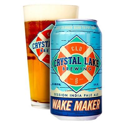 Crystal Lake Wake Maker Session IPA Beer - 6pk/12 fl oz Cans