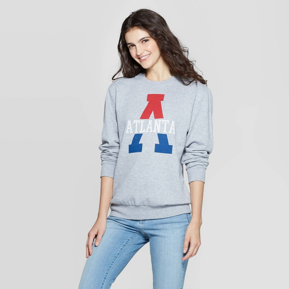 Image of Crewneck Atlanta Graphic Sweatshirt - Awake Gray L, Size: Large