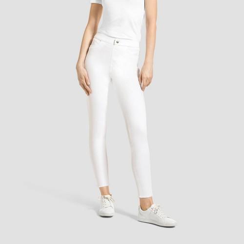 Hue Studio Women S Mid Rise Frayed Edge Jeans Leggings White