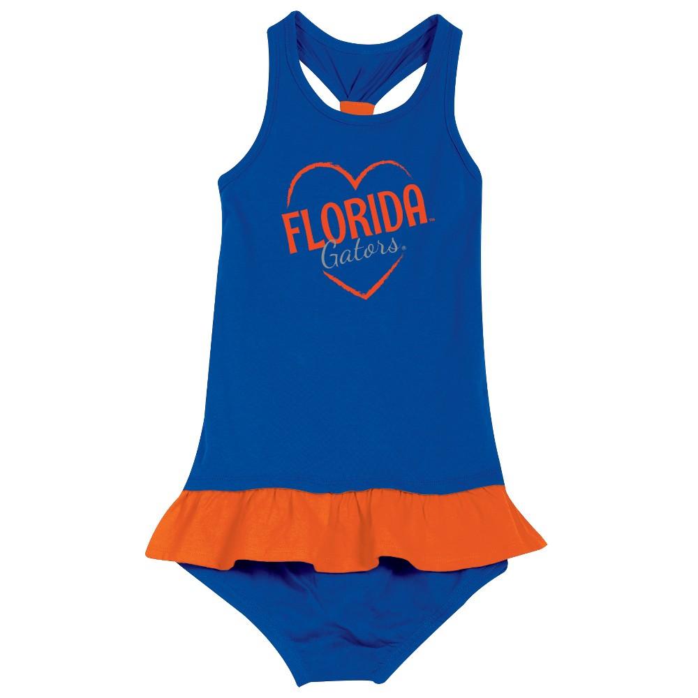 Florida Gators After Her Heart Toddler Dress 3T, Toddler Girl's, Multicolored