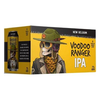 New Belgium Voodoo Ranger IPA Beer - 6pk/12 fl oz Cans