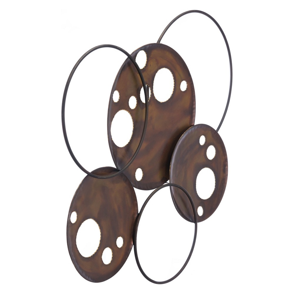 ZM Home 32 Rustic Wall Sculpture Brown