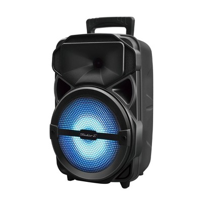 Studio Z STZP-800 8 Inch Portable Rechargeable Speaker Woofer Entertainment System with USB Music Stream and Handheld Wired Microphone