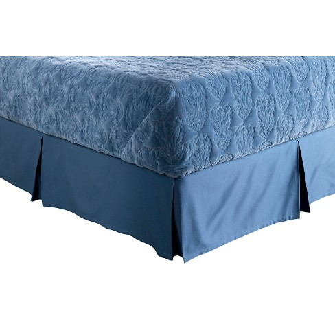 Cremona Medallion and Damask Bed Skirt Navy - Surya® - image 1 of 1