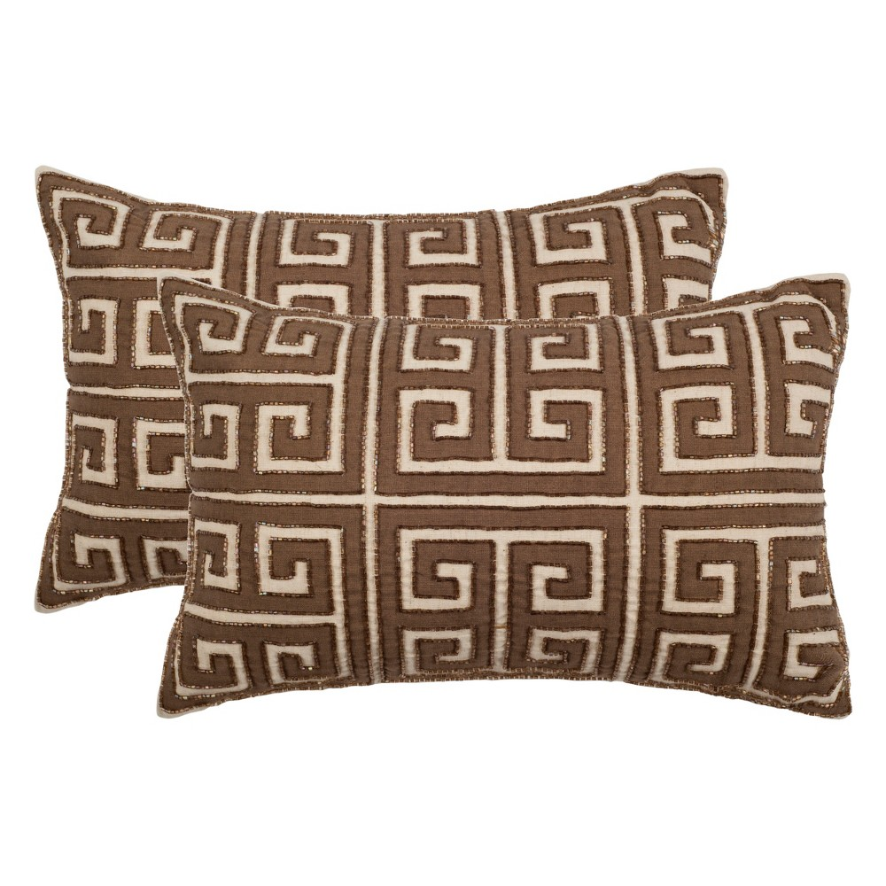 Set of 2 Chy Lumbar Throw Pillow Neutral - Safavieh