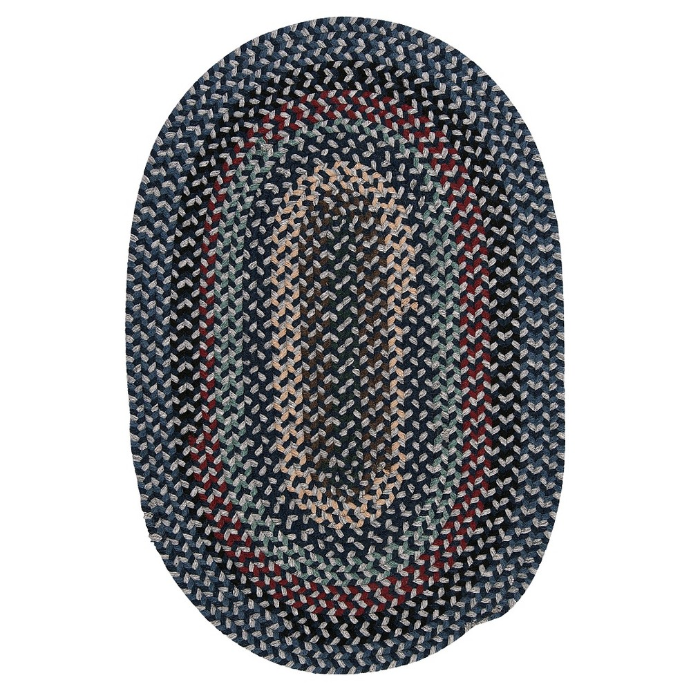 Best Price Boston Common Braided Accent Rug Winter Blues 2x3 Colonial Mills Dark Blue