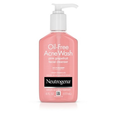 Facial Cleanser: Neutrogena Oil-Free Acne Wash Pink Grapefruit