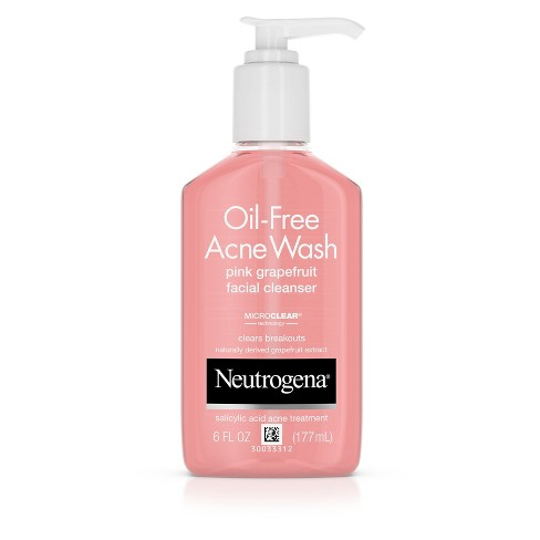 Neutrogena Oil-Free Pink Grapefruit Acne Facial Cleanser - 6 fl oz - image 1 of 8