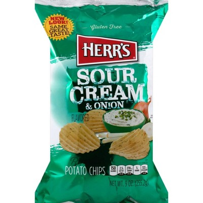 Herr's Ripples Sour Cream & Onion Flavored Potato Chips - 10oz