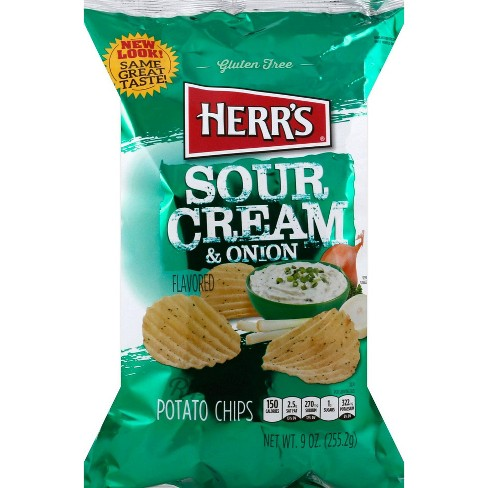 Herr's Ripples Sour Cream & Onion Flavored Potato Chips - 10oz - image 1 of 1