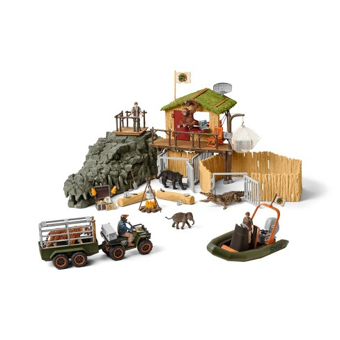 Schleich Wild Life Croco Jungle Research Station Playset - image 1 of 2