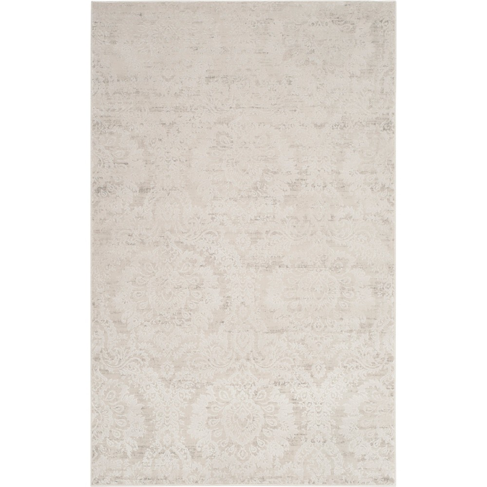 2 6 X4 Damask Loomed Accent Rug Silver Beige Safavieh