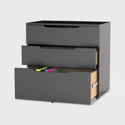 Next 3 Drawer Filing Cabinet Black - Nexera