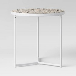 Tile Top Patio Accent Table - White - Project 62™