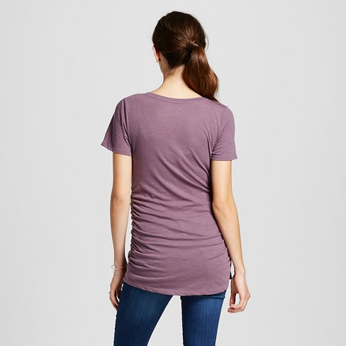57128a9e6bc7d Maternity Heathered V-Neck T-Shirt Purple M - Liz Lange For Target : Target