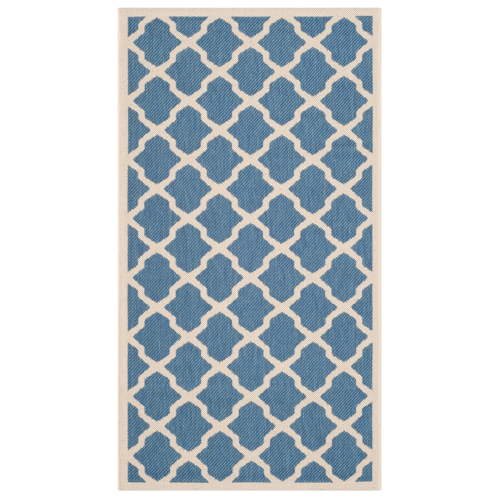 Malaga Rectangle 4'X5'7 Patio Rug - Blue/Beige - Safavieh