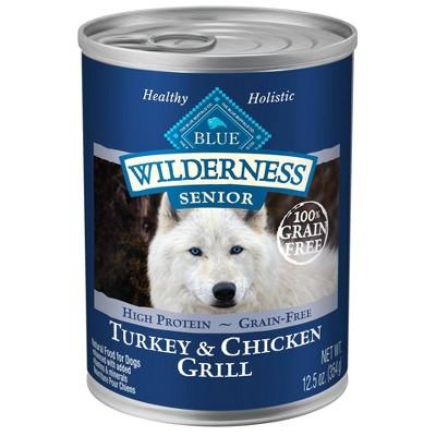 Dog Food: Blue Buffalo Wilderness Senior Canned Food