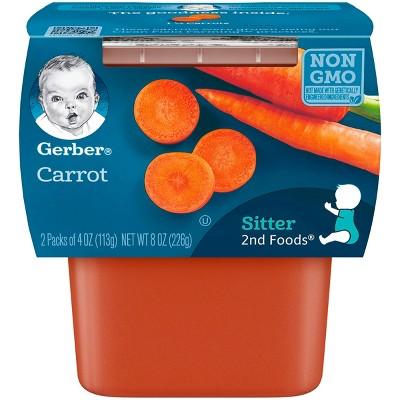 Gerber 2nd Foods Carrot Baby Food - 4oz (2ct)