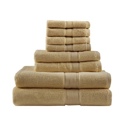 8pc Bath Towel Set Beige