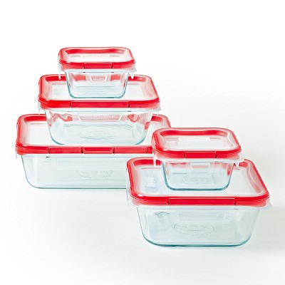 Pyrex 10pc FreshLock Glass Storage Set