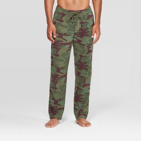 Men's Camo Print Microfleece Pajama Pants - Goodfellow & Co™ Healthy Green - image 1 of 2