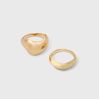 Bold Dome Ring Set - A New Day™ Gold